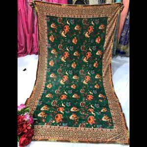 Indian Pakistani punjabi velvet printed stole